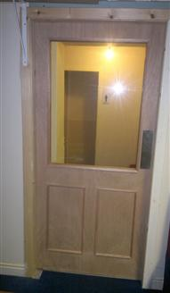 timber door installed by tranent joinery company