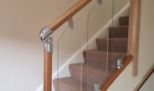 staircase fitted with glass panels