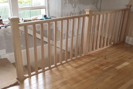 wooden staircase installed in edinburgh